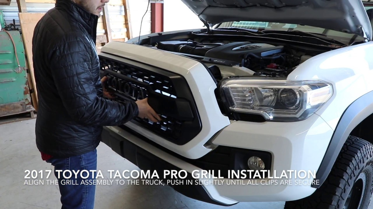 Toyota Tacoma Trd Pro Grill Installation Step By Guide No Sensor And Thoughts