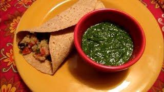Black Bean Quinoa Burritos With Cilantro Pesto Recipe