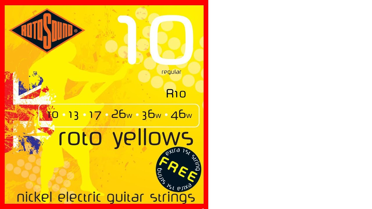 rotosound r10 roto yellows electric guitar strings unboxing youtube. Black Bedroom Furniture Sets. Home Design Ideas