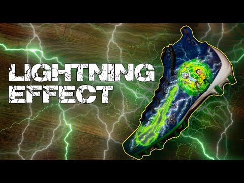 How To: Airbrush Lightning | Rick and Morty Cleats