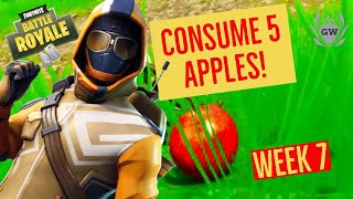 Consume 5 Apples! Stage 1! Fortnite WEEK 7! Season 6 Challenges! Fortnite Battle Royale!