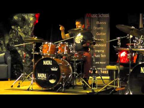 Amazing Live Drum Show - Natal Drum Clinic Video Full HD Funk Rock Rockabilly Hip Hop