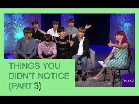 THINGS YA DIDN'T NOTICE BTS on yahoo music