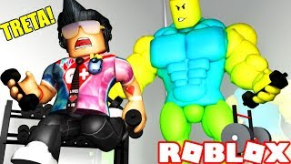 HE WENT BAD AT THE GYM AT ROBLOX... 💪