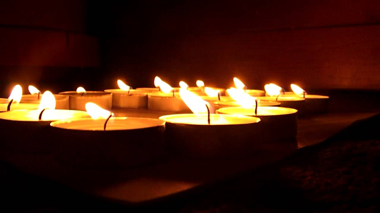 View Of The Candles Flickering Youtube