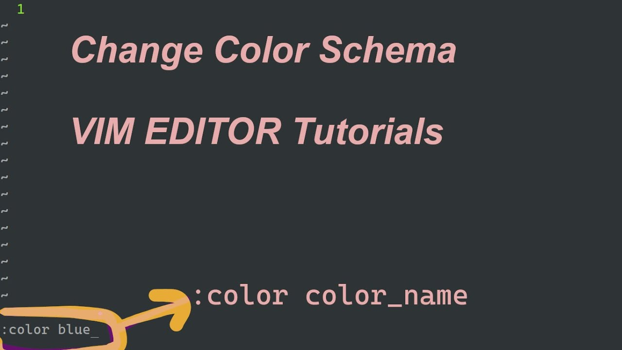 Change VIM Editor Color Scheme Change Theme