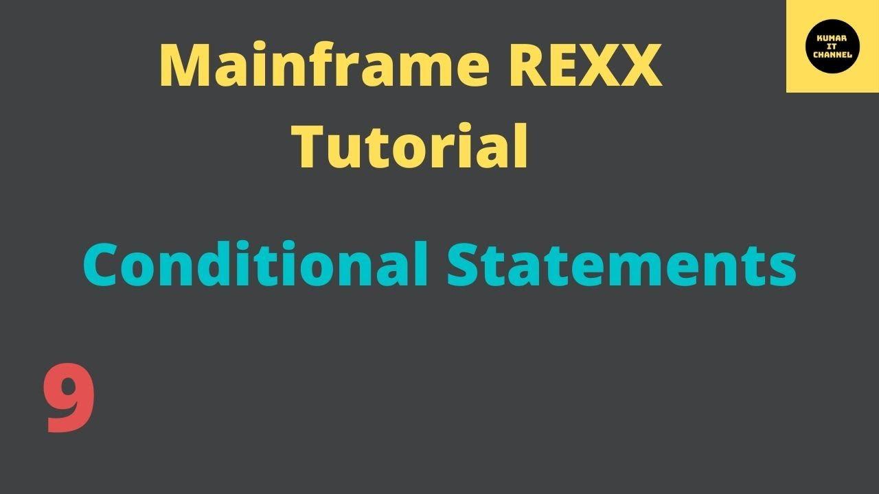 Mainframe tutorial rexx 4 youtube.
