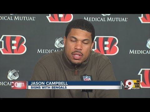 Bengals introduce new backup quarterback Jason Campbell