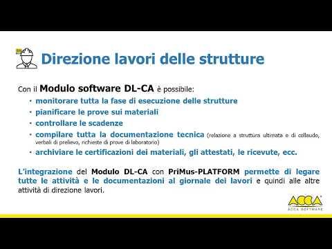 Tutorial PriMus-Platform - Presentazione del modulo DL-CA - ACCA software thumbnail