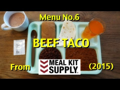 MRE Review: Menu No.6 Beef Taco from Meal Kit Supply (2015)