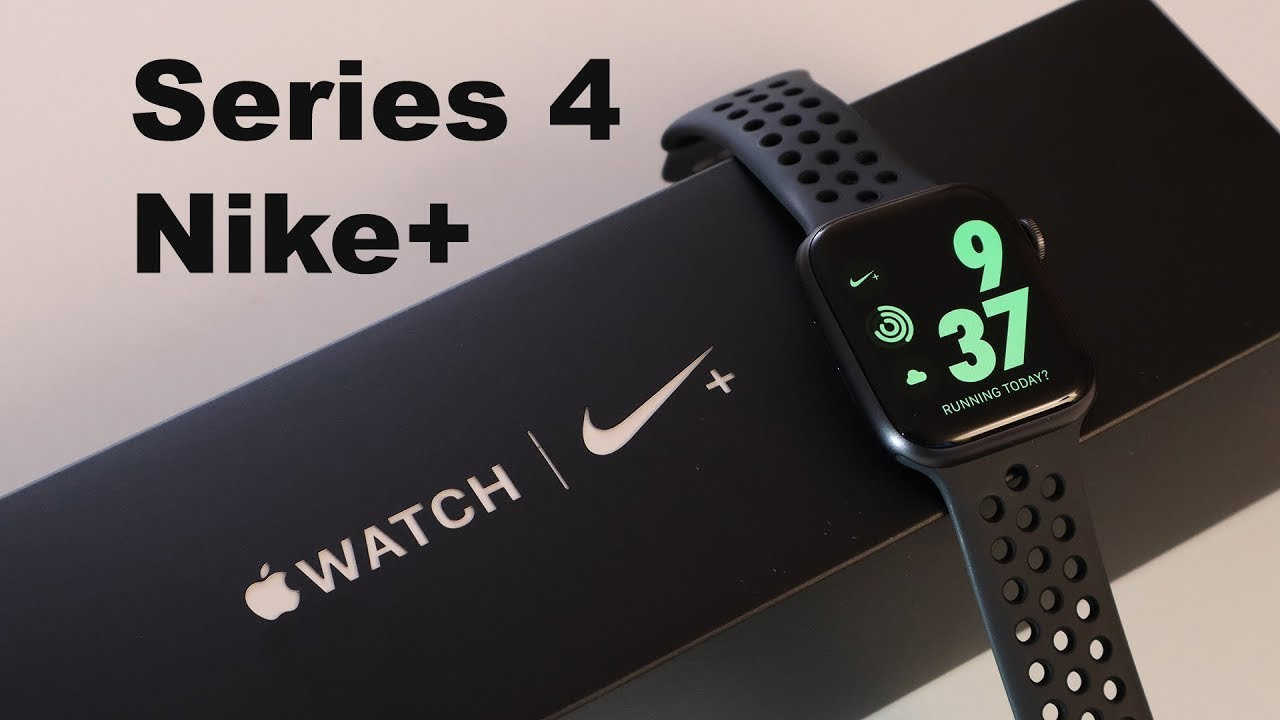 Meseta rehén Saturar  Apple Watch Nike+ | Series 4, Unboxing + First Look of All Watch Faces +  Nike Features! - YouTube