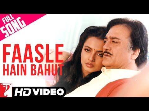 Faasle Hain Bahut - Full Song HD | Faasle | Sunil Dutt | Rekha | Asha Bhosle