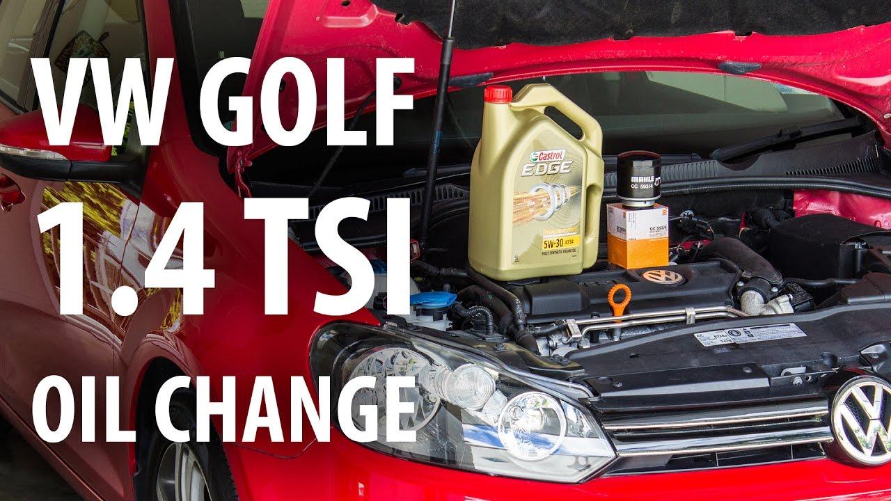 How To Vw 1 4 Tsi Golf Mk6 Oil Filter Change Service Youtube