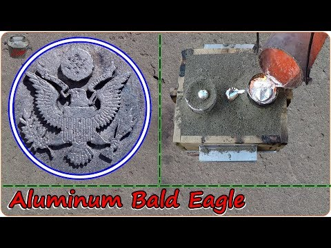 Casting An Aluminum Bald Eagle. The Great Seal