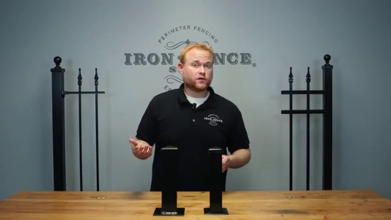 Surface Mount Posts For Iron And Aluminum Fence Youtube