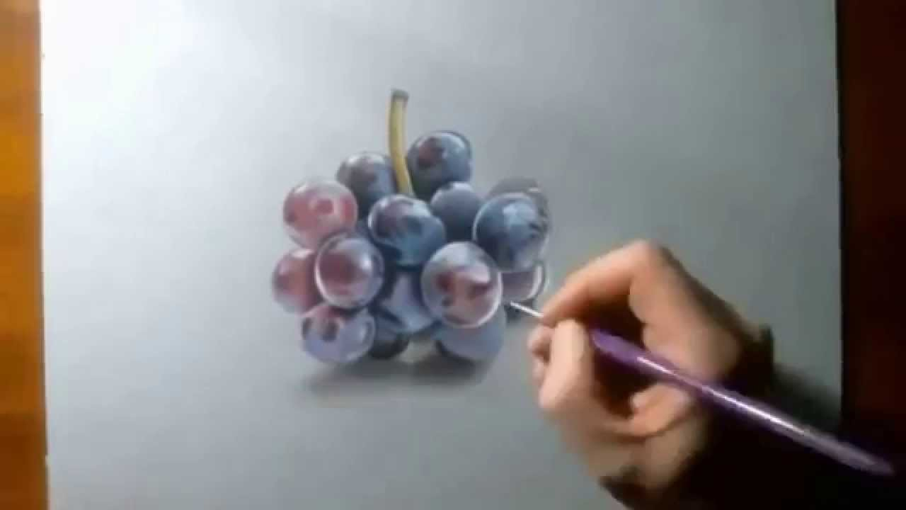 how to draw grapes how to draw fruit for beginners2ᴴᴰ youtube