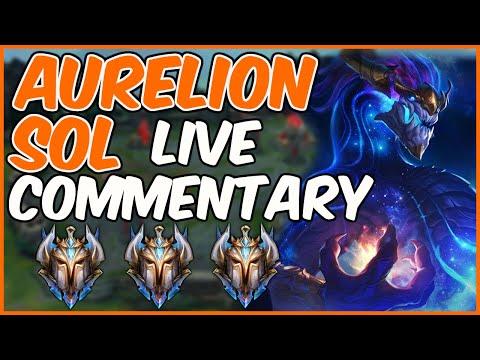 CHALLENGER AURELION SOL LIVE COMMENTARY - League of Legends thumbnail