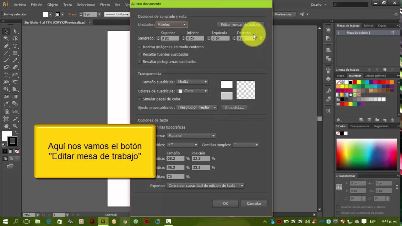 Adobe Illustrator Cambiar Orientación De Hoja En Mesa De Trabajo Youtube