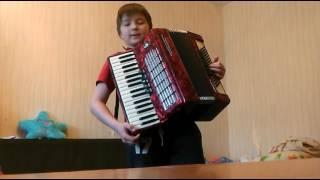 Видео урок на аккордеоне. #3 Гамма Ля Мажор. Устал