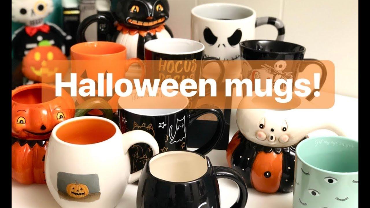 100 days of katoween day 43: halloween mug collection 🎃🖤 - youtube