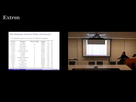 Applied Stats 2/8/17 - Michael Peress on YouTube