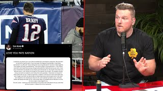 Pat McAfee Reacts To Tom Brady Leaving The Patriots