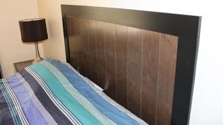 Build A Headboard With Prefinished Engineered Hardwood Flooring