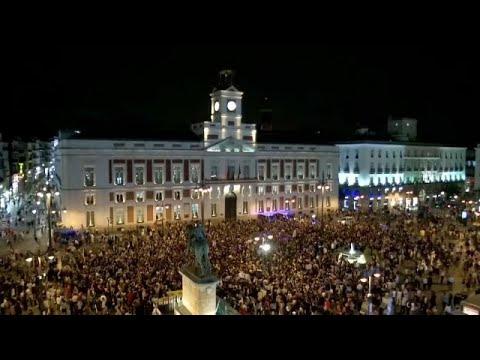 Protestos contra mortes por violência de género em Espanha