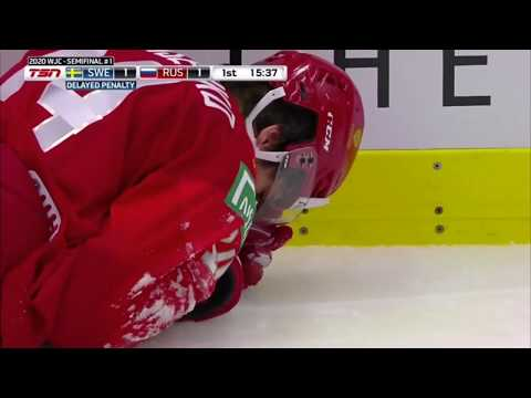 Nils Hoglander Ejected From Semifinal For Hit To The Head