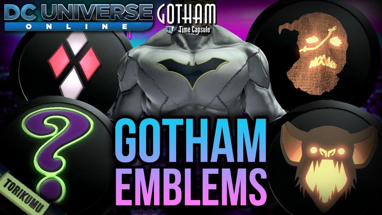 Dcuo Gotham Time Capsule Emblems Featuring Batman Rebirth Emblem