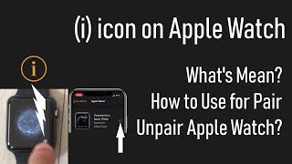 i icon on apple watch 5/ 4/ Series 3/2/1. Where is i icon on Apple Watch? and iPhone