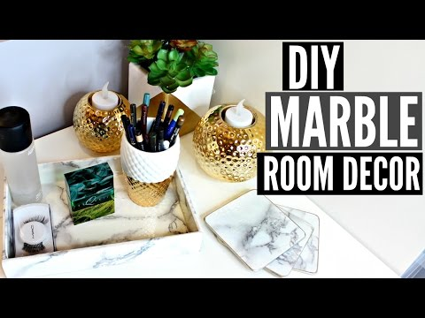 DIY: MARBLE Room Décor! (TUMBLR Inspired) | EASY+CHEAP