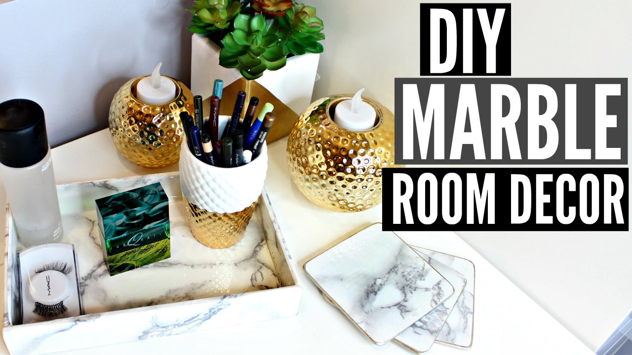 diy: marble room décor! (tumblr inspired) | easy+cheap - youtube