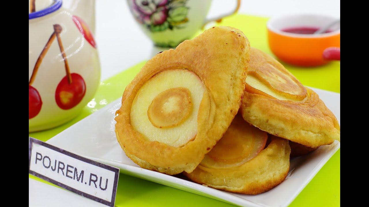 оладушки на кефире с яблоками рецепт с фото пышные