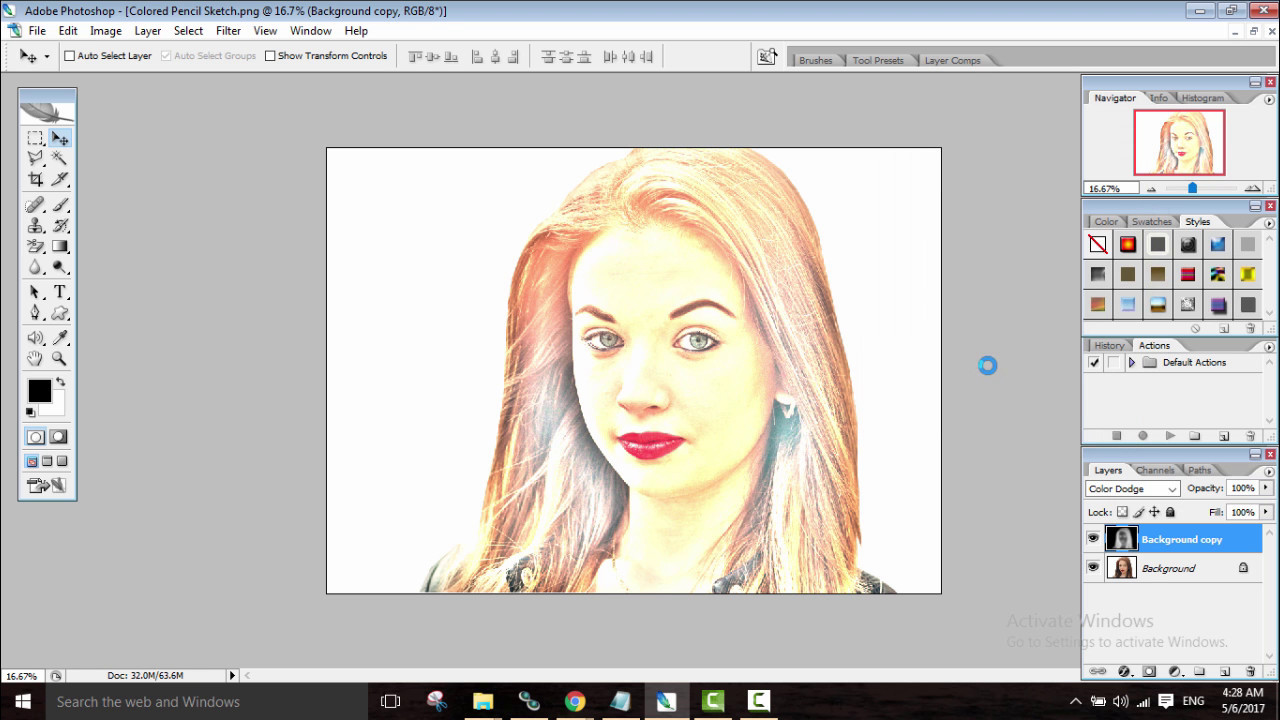 Photoshop tutorial for beginners how to color sketch a photo