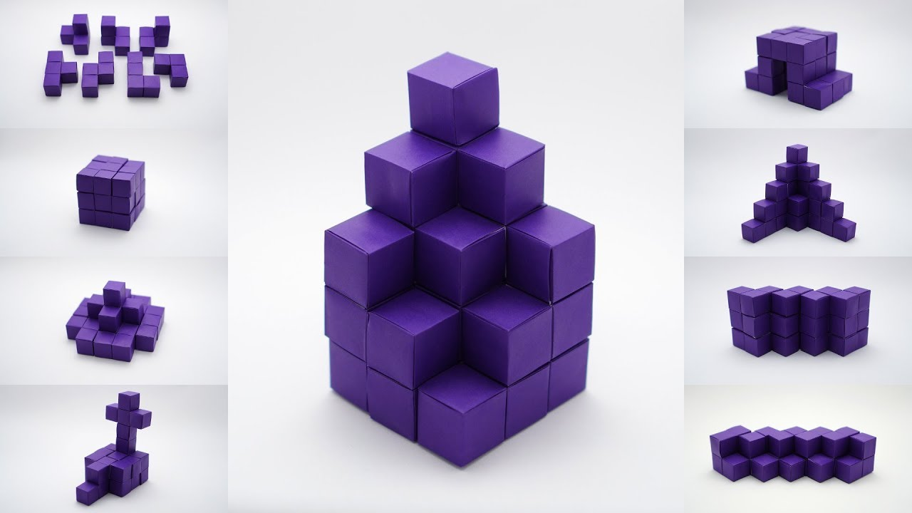 Colorful origami cubes stock photo. Image of white, shapes - 144747198 | 720x1280