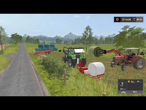Wrapping bales (timelapse) | Small Farm | Farming Simulator 2017 | Episode 19