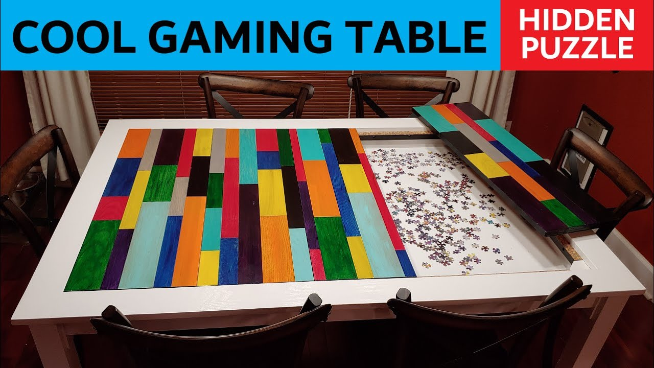 Puzzler Gaming Table Three Dining Room Tables In One Youtube