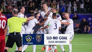 SLO-MO: Zlatan scores his 2nd of the night vs. Real Salt Lake