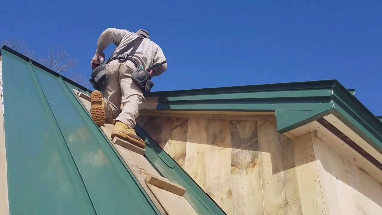 Installing Metal Rake Trim For Standing Seam Roof Youtube