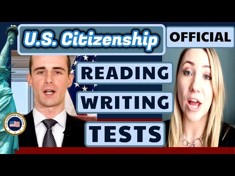 U.S. Citizenship Official Reading And Writing Tests 2020 (History Government Civics Exams)