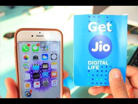 Get Reliance Jio 4G Sim And Activate On IPhone 6/6s/7 In HINDI