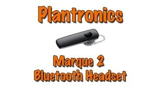 Plantronics Marque 2 (M165) - Bluetooth Headset - Review (HD)