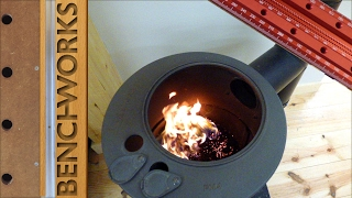 Heating the workshop with saw dust thumbnail