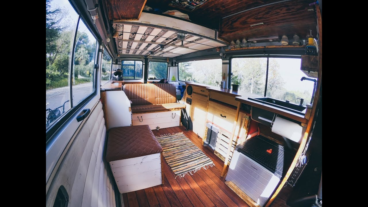 Camper Bus Roomtour┃Mercedes MB 10 Selbstausbau (subtitles)