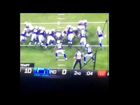Colts mascot doing his dance!
