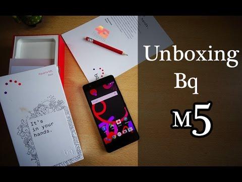 Bq Aquaris M5 Unboxing e primeiras impressões - Português