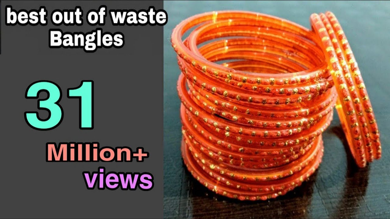 Image result for DIY Best out of waste/old Bangles : Best out of waste idea: cool craft idea