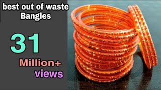 DIY Best out of waste/old Bangles : Best out of waste idea: cool craft idea