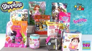 Num Noms Shopkins Disney Lego Splashlings MH Trolls Blind Bag Toy Opening | PSToyReviews